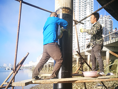 丹东亲水台墩柱加固,碳纤维布