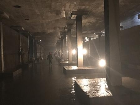 哈尔滨净水厂水池墩柱混凝土脱落修补