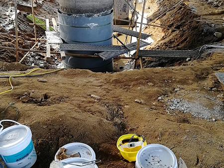 水下玻纤套筒加固施工