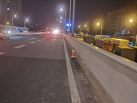 长春两横三纵高架桥防撞墙维修项目